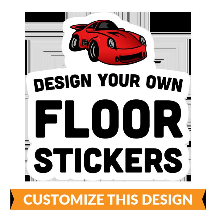Custom Social Distancing Floor Stickers