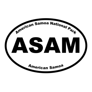 American Samoa National Park Oval Sticker