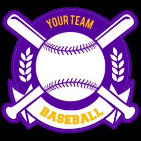 Custom Baseball Magnet with Banner