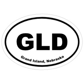 Grand Island, Nebraska Oval Stickers