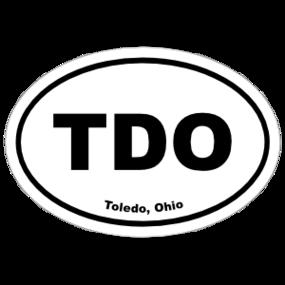 Toledo, Ohio Oval Stickers