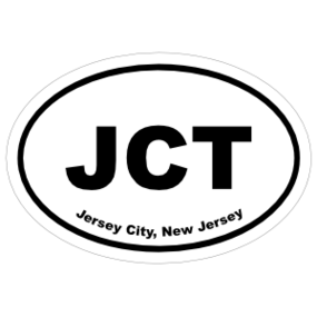 Jersey City, New Jersey Oval Stickers