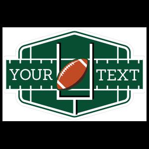 Custom Football Field Sticker
