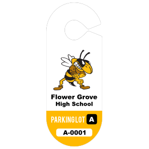 Oval High School Hang Tag Parking Permit