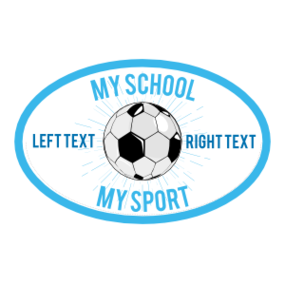 Custom Full Oval Soccer Burst Sticker