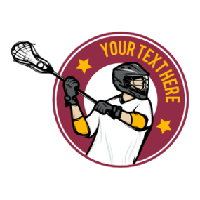 Custom Lacrosse Circle Sticker