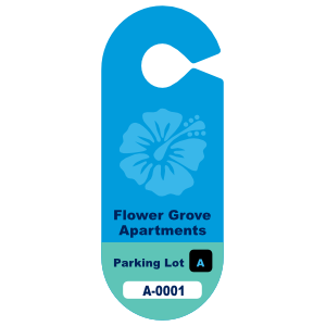 Oval Apartment Hang Tag Parking Permit
