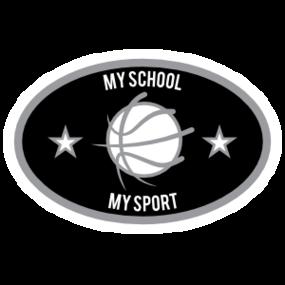 Custom Text Oval with Stars Border Basketball Sticker