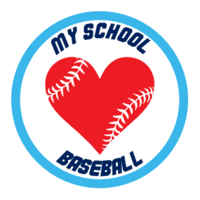 Custom Baseball Magnet with Heart Seams and text
