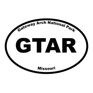 Gateway Arch National Park Oval Sticker
