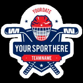 Custom Ice Hockey Helmet Shield Sticker