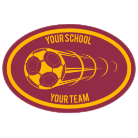Custom Shooting Left Soccer Ball Oval Sticker