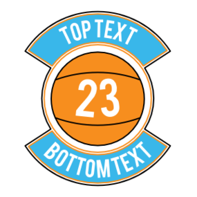 Custom Basketball Patch Sticker with Number