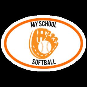 Custom Softball Mitt Oval Magnet