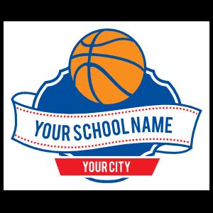 Custom Basketball Plaque and Banner Sticker