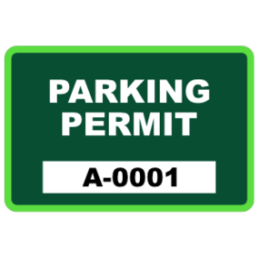 Parking Permit Rectangle 8