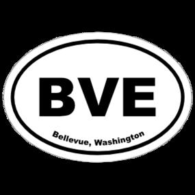 Bellevue, Washington Oval Stickers