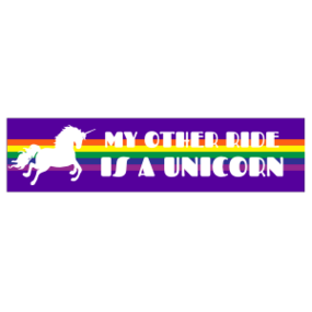 My Other Ride is a Unicorn Customizable Bumper Sticker