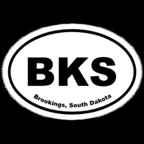 Brookings, South Dakota Oval Stickers