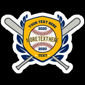 Custom Baseball Shield with Crossed Bats