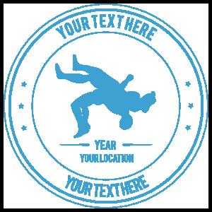 Custom Wrestling Belly to Back Transfer Sticker