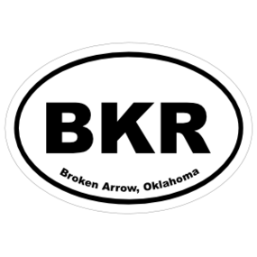 Broken Arrow, Oklahoma Oval Stickers