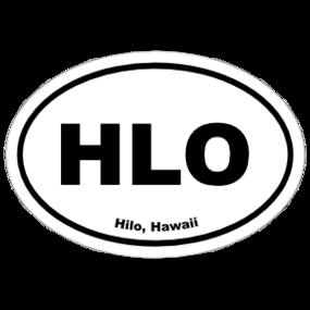 Hilo, Hawaii Oval Stickers