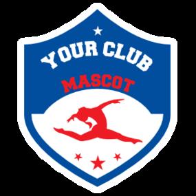 Custom Jumping Gymnastics Shield Sticker