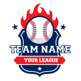Custom Baseball Magnet with Flames and your Text