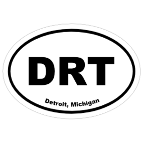 Detroit, Michigan Oval Stickers