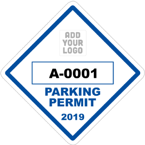 Diamond Parking Permit with Your Logo