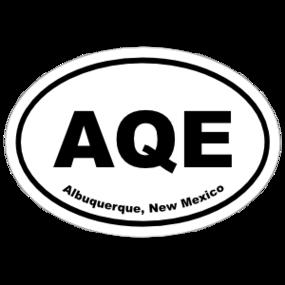 Albuquerque, New Mexico Oval Stickers