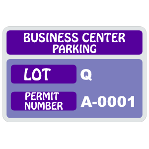 Parking Permit Rectangle 6