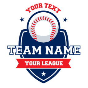 Custom Baseball Shield Magnet with Text
