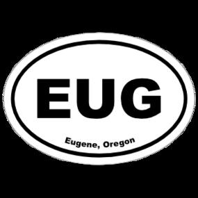 Eugene, Oregon Oval Stickers