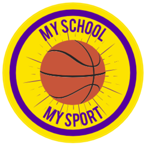 Custom Printed Basketball with Text Circle Sticker