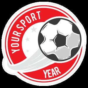 Custom Soccer Swoosh Circle Sticker