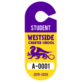 Large Student Oval Hang Tag Parking Permit