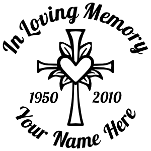 "Customizable ""In Loving Memory"" Car Decals & Stickers"
