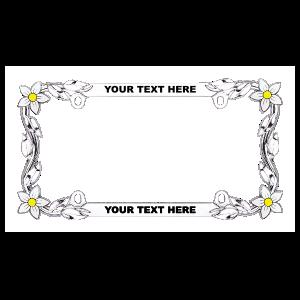 Custom Daisy Chrome License Plate Frame