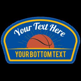 Custom Printed Basketball Shoulder Patch Sticker