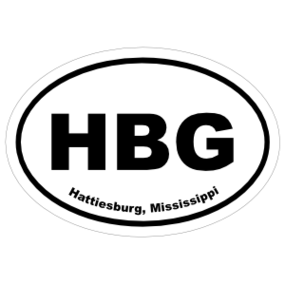 Hattiesburg, Mississippi Oval Stickers