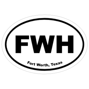 Fort Worth, Texas Oval Stickers