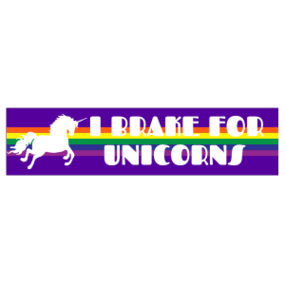 I Brake for Unicorns Customizable Bumper Sticker