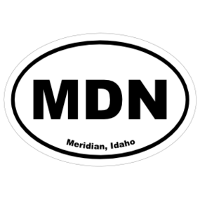 Meridian, Idaho Oval Stickers
