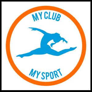 Custom Simple Jumping Gymnast Circle Sticker