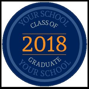 Custom Class of 2018 Text Circle Sticker