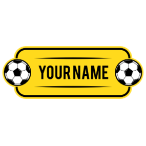 Custom Reverse Color Name Soccer Plate