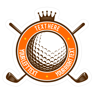 Custom Golf Ball Crown Circle Sticker