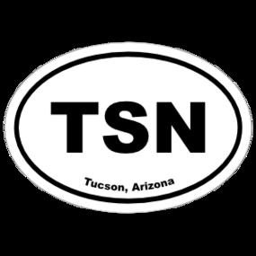 Tucson, Arizona Oval Stickers